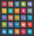 Flat Media and Communication icons vector image