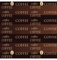 coffee wallpaper brown vector image