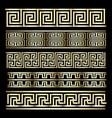 Gold Meander Design vector image