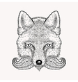Sketch fox with a beard and moustache Hand drawn vector image
