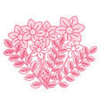 beautiful flowers decorative icon vector image
