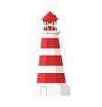 cartoon style lighthouse vector image