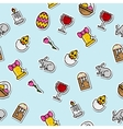 Colored easter pattern vector image