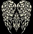 Ornate Skull With Cross vector image