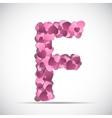 Valentine s Day Alphabet of Hearts vector image