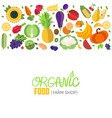 vegetables and fruits header vector image