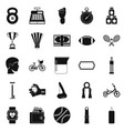 weight for the gym icons set simple style vector image