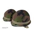 soldier helmet vector image vector image