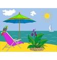Landscape ocean shore vector image