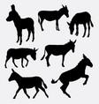 donkey mammal animal silhouette vector image vector image
