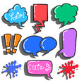 set of bubble text various style vector image