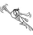 businessman superhero cartoon vector image vector image