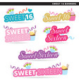 Sweet sixteen banners converted vector image