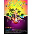 tropical music event disco flyer vector image