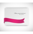 Card with ribbon vector image vector image