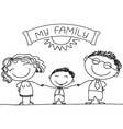 family sketch vector image