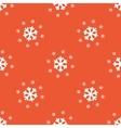 Orange snow pattern vector image