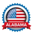 Alabama and USA flag badge vector image