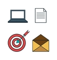 business set concept icon vector image