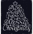 Christmas congratulation on black background vector image