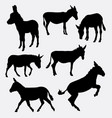donkey mammal animal silhouette vector image
