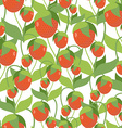 Fruity Strawberry texture seamless pattern of red vector image