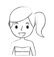 little cute young girl with bikini swimsuit vector image
