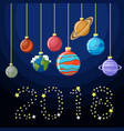 new year decorative greeting card with solar vector image