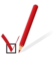 Red pencil with form for voting vector image