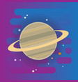 saturn icon - flat space elements vector image