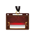 vip card pass exclusive ticket icon vector image