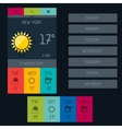 Weather widget in flat design style vector image