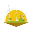wind energy power turbine electricity flat design vector image