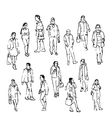 sketch of people vector image