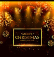 luxury style merry christmas background with vector image