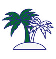 tropical palms icon vector image