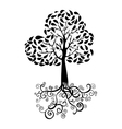 Autumn tree silhouette vector image