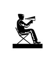 Director with Megaphone vector image