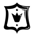 royal shield icon simple black style vector image