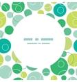 abstract green circles circle frame seamless vector image vector image