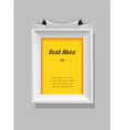 Picture frame with place for your own text vector image