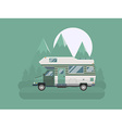 Camper traveler Truck on National Mountain Park vector image