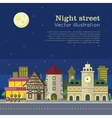 Night City Web Banner vector image
