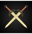 two medieval swords isolated - vector image