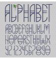 Elegant alphabet vector image vector image