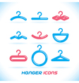 Hanger Icons vector image