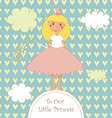 Sweet Little Princess Card vector image