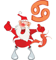 Santa Claus Astrological Sign in Zodiac Cancer vector image