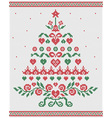 Christmas tree ornament seamless texture vector image