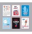 Cute Summer Poster Set vector image